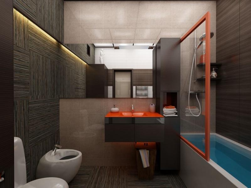Ванная комната с туалетом дизайн 2.5 кв м